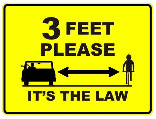 3 feet - NY And PA Bicycle Attorney: What Is A Safe Passing Distance For Motorists? Laws Vary Across U.S.