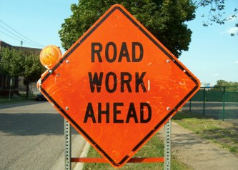 road work sign - Flagwoman Injured On PA Highway Reminds All Drivers To Slow Down, Be Careful In Construction Zones This Summer!