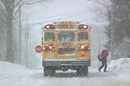 bus snow pic - Q&A: School Bus Accidents, Snow Days Were Hot Topics On Recent 'Law Talk'