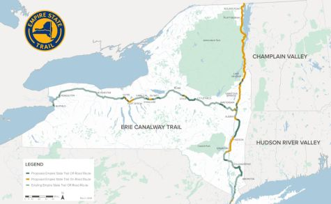 Empire State Trail map 1024x631 - NY Building 750-Mile Biking Trail That Will Boost Safe Cycling and Tourism