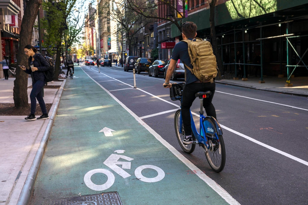 NY Times photo - As Cyclist Death Toll Soars In 2019, New York City Leaders' New Plan Aims To Make Streets Safer. Upstate Is Watching - Will The Plan Work?
