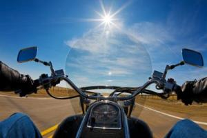 motorcycle view - NY and PA Motorcycle Accident Lawyer Warns Bikers After Serious Motorcycle Crashes in Both States