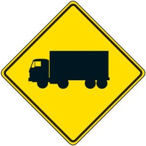 reflective warning signs truck symbol ac0588 lg 300x300 - Our Highways Could Get More Dangerous As Truckers Fight To Relax Time-Off Rules, Says NY and PA Truck Crash Lawyer