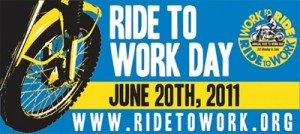 ridetowork1 - NY and PA Motorcycle Lawyer: June 20 is Ride to Work Day!