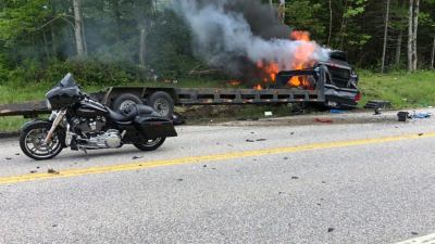 truck 300x169 - Truck Driver Charged In Crash That Killed Seven Motorcyclists In New Hampshire