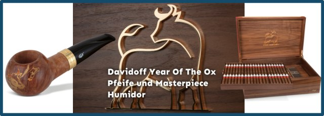 Davidoff Year Of The Ox Masterpiece Humidor und Pfeife