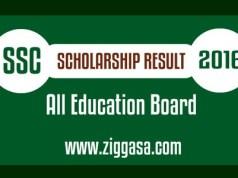 SSC Scholarship Result 2016