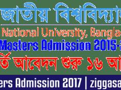 NU Masters Admission 2015-2016
