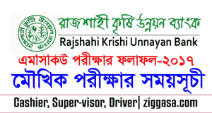 RAKUB MCQ Exam Result and Viva Exam Cash-Supervisor