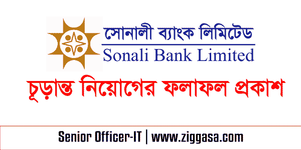 Sonali Bank Primarily Selection Result 2017