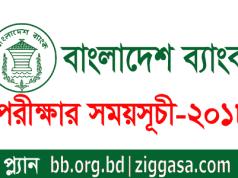 BB Officer (General) Exam Seat Plan 2018