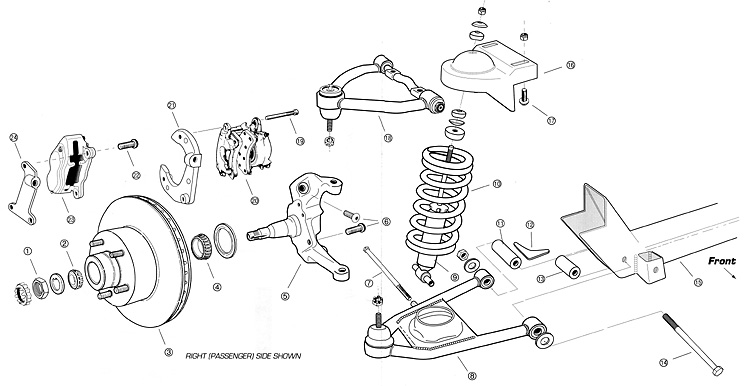 Chevy Truck Front Suspension Diagram Exploded stock front