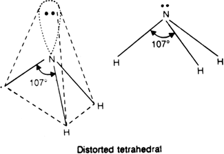 With the help of VSEPR theory, explain the shape of: (i