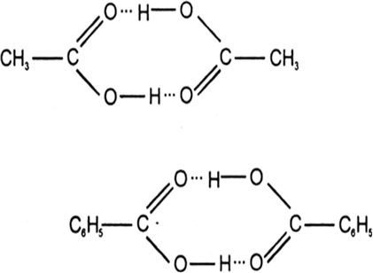 Give an example of a compound in which hydrogen bonding