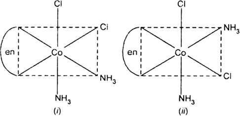 Draw the structures of geometrical isomers of the