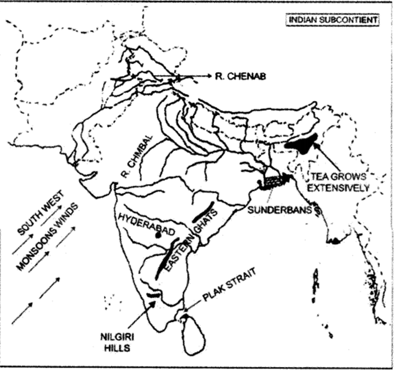 Study the extract of the Survey of India Map sheet No. 45D