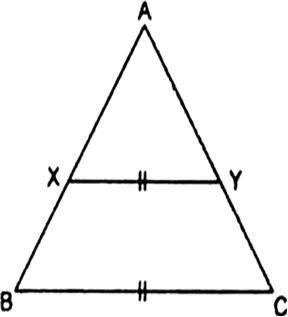 In ∆ABC, XY is parallel to BC and it divides ∆ABC into two