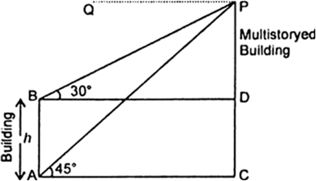 The height of a tower is 10 m. Calculate the height of its