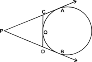 In the figure given below, PA and PB are tangents to the