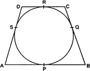 In figure, a circle touches all the four sides of a