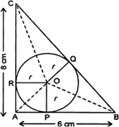In the given figure, ABC is a right-angled triangle with