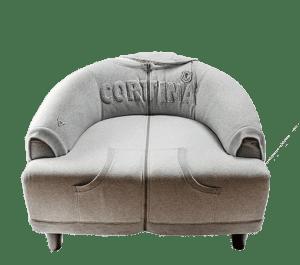 POLTRONA HOCKEY CORTINA arredo di montagna zigzag cortina