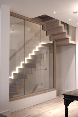 Bespoke Staircases from Zigzag Design Studio  Contemporary staircases including wooden oak