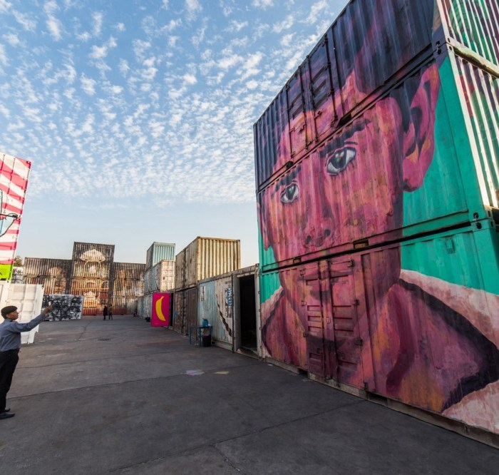 These shipping containers in Delhi are being used for something unusually awesome