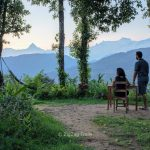 The panoramic view of the Annapurna ranges