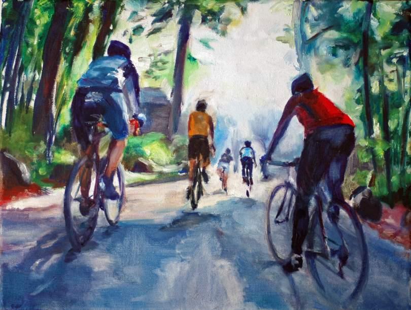 Schilderij wielrennen