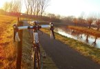 Fietstocht in de winter