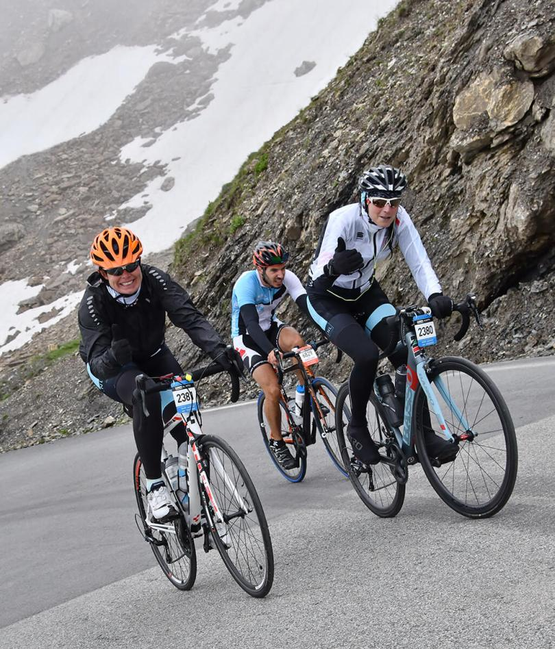 Galibier top, beklimming La Marmotte