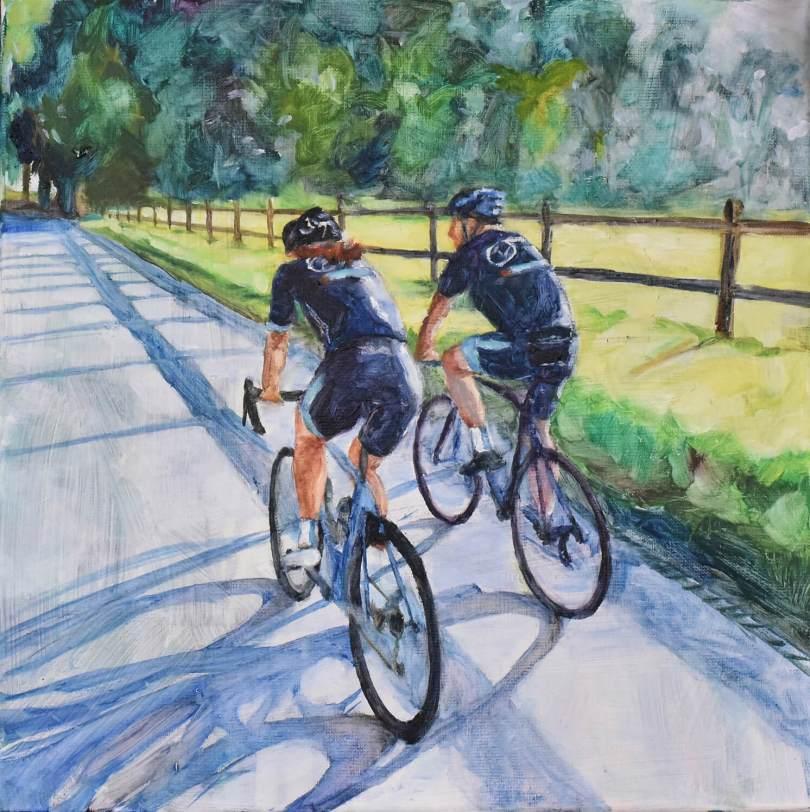 Wielrennen in Brabant, schilderij