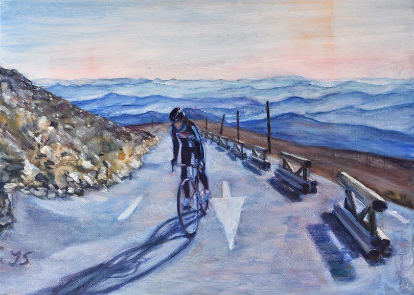 Wielrennen op Mont Ventoux