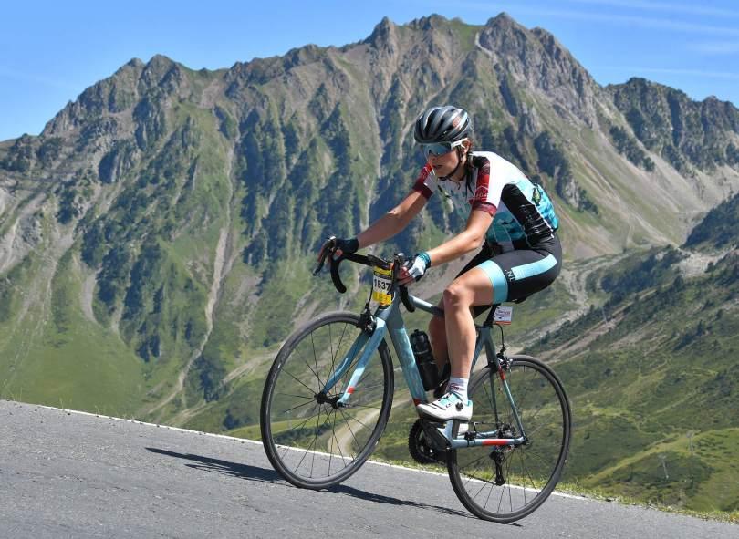 Klimmen op Tourmalet, fietsen
