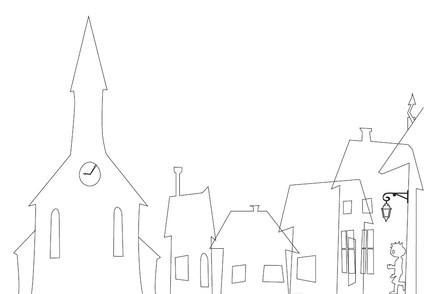 Première étape : le dessin de la silhouette