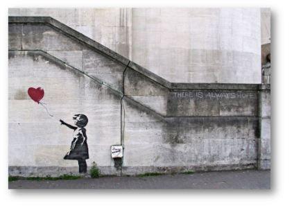 La petite fille au ballon, Londres, 2002