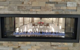 Town and Country Fireplaces Wide Screen 54 see-thru gas fireplace
