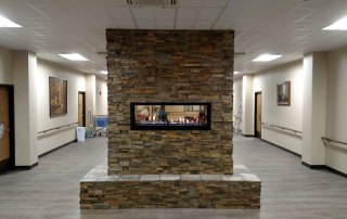Town and Country Fireplaces Wide Screen 54 inch see-thru gas fireplace