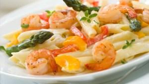Peppered Shrimp Alfredo