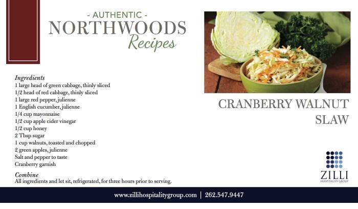 Cranberry walnut slaw recipe
