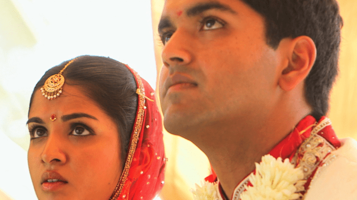 Nayana and Arun at their wedding.