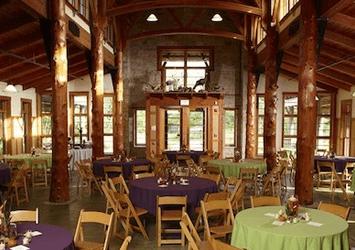Inside the Schlitz Audubon Nature Center.