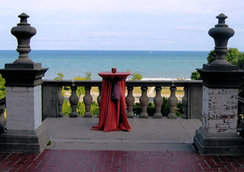 View of Lake Michigan from the Villa Terrace.