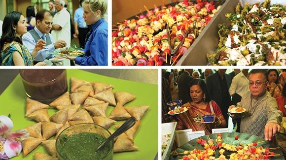 ZHG's Indian Cuisine at Nayana & Arun's wedding.