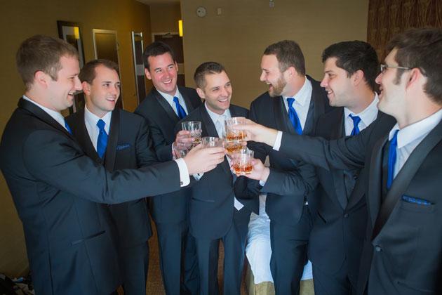 Milwaukee Groomsmen at Zilli Hospitality Group Wedding