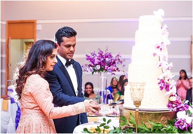 Wedding at Boerner Botanical Gardens Cutting Cake