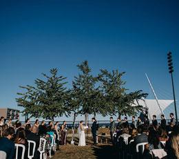 Wedding on the lake at Zilli Lake & Gardens
