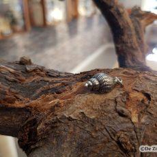 zilveren wulk schelphanger geoxideerd