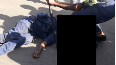 Photo of Policeman crushed to death by pirate truck driver